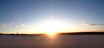 Панорамный взгляд пустыни Стоковые Фото