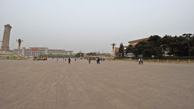 Панорамный взгляд площади Тиананмен фарфор Пекин 4-ое мая 2017 сток-видео