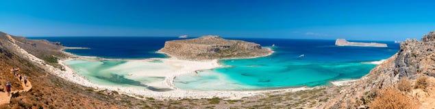 Панорамный взгляд пляжа Balos на Крите, Греции Стоковые Изображения RF