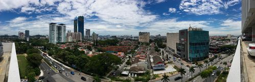 Панорамный взгляд раздела 14 Petaling Jaya Стоковое Изображение RF