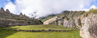 Панорамный взгляд руин Inca Machu Picchu - священная долина, Перу Стоковая Фотография RF