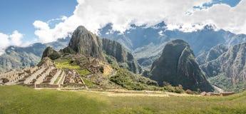 Панорамный взгляд руин Inca Machu Picchu - священная долина, Перу Стоковое Фото