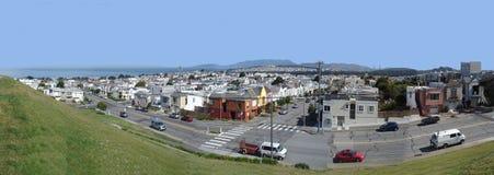 Панорамный взгляд Сан-Франциско, CA стоковые изображения