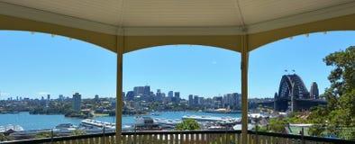 Панорамный взгляд северного горизонта Сиднея Стоковая Фотография