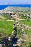 Панорамный взгляд северной области Мальты и g Стоковые Изображения