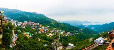 Панорамный взгляд села Стоковое Изображение RF