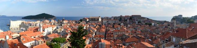 Панорамный взгляд старого городка dubrovnik Хорватия Стоковые Изображения