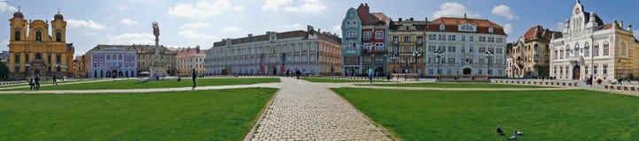 Панорамный взгляд с историческими зданиями в квадрате соединения, Timiso стоковое фото