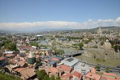 Панорамный взгляд Тбилиси Стоковые Изображения RF