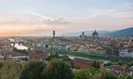 Панорамный взгляд Флоренса - Тосканы, Италии Стоковое Изображение RF