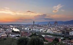 Панорамный взгляд Флоренса - Тосканы, Италии Стоковые Изображения RF