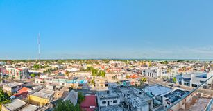 Панорамный взгляд центра города в Chetumal, Мексике стоковые фотографии rf