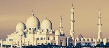 Панорамный взгляд шейха Zayed Мечети Стоковое Изображение