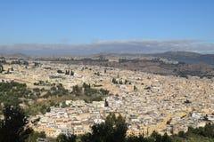 Панорамный взгляд Fez, Марокко Стоковая Фотография RF