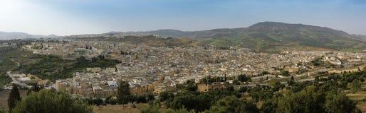 Панорамный взгляд Fez, Марокко Стоковое Изображение