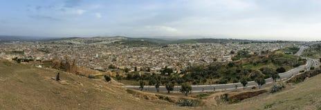 Панорамный взгляд Fez, Марокко Стоковые Фото