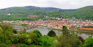 Панорамный взгляд Heildelberg, Германии Стоковая Фотография RF