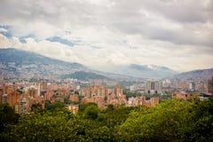 Панорамный взгляд medellin Колумбии, долины Стоковое фото RF