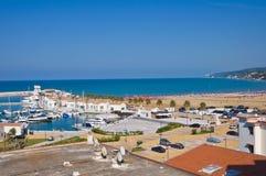 Панорамный взгляд Rodi Garganico. Puglia. Италия. Стоковые Фотографии RF