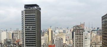 Панорамный взгляд São Paulo Стоковое Изображение RF