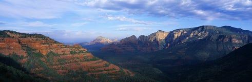 Панорамный взгляд, Sedona, Аризона Стоковые Изображения RF
