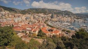 Панорамный вид гавани Монте-Карло в Монако акции видеоматериалы