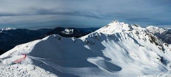 Панорамный вид гребня горы Aibga стоковые изображения rf