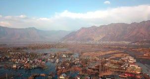 Панорамный вид деревни озера видеоматериал