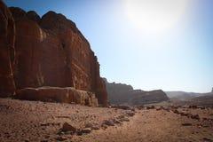 Панорамный вид исторического города Petra, Джордан стоковые изображения