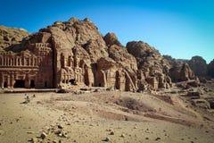 Панорамный вид исторического города Petra, Джордан стоковое фото rf