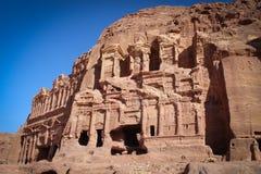 Панорамный вид исторического города Petra, Джордан стоковое фото