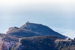 """Панорамный вид крышки d """"или башни в Moraira, Испании стоковые фото"""