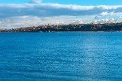 Панорамный вид к Реке Волга и городу Kozmodemiansk стоковое изображение