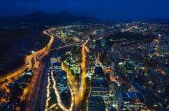 Панорамный вид на город от Gran Torre Сантьяго в Сантьяго de Чили Стоковая Фотография RF