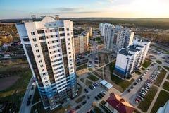Панорамный вид на квартале нового квартального городского развития р стоковое изображение rf