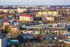 Панорамный вид на квартале нового квартального городского развития р стоковые изображения