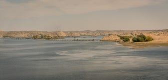 Панорамный вид озера Nasser E стоковое изображение rf