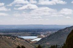 Панорамный вид от красного амфитеатра утесов в Morrison, Колорадо стоковые фотографии rf