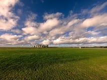 Панорамный вид памятника Стоунхендж стоковое фото rf