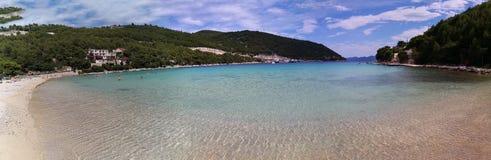 панорамный вид пляжа  стоковые изображения rf