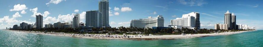 Панорамный вид с воздуха Miami Beach Стоковые Изображения RF