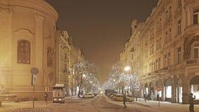 Панорамный вид улиц Праги стоковые фотографии rf