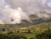 Панорамный вид центральных андийских гор Колумбии стоковые фотографии rf