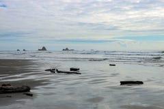 Панорамный вид штиля на море или океана на горизонте стоковые изображения rf