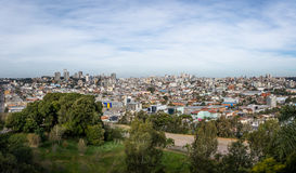 Панорамный вид с воздуха Caxias делает город Sul - Caxias делает Sul, Rio Grande do Sul, Бразилию Стоковое Фото