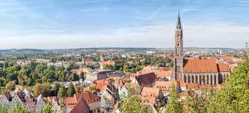 Панорамный вид с воздуха Landshut стоковая фотография rf