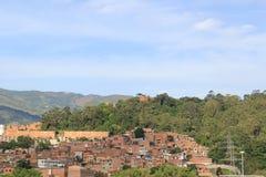Панорамный востока города Medellin Колумбия Стоковые Фото