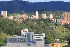 Панорамный востока города Medellin, Колумбия Стоковые Фото
