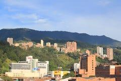 Панорамный востока города Medellin, Колумбия Стоковые Изображения RF