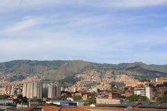Панорамный востока города Medellin, Колумбия Стоковая Фотография
